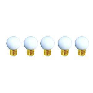 Girard sudron Lot de 5 ampoules led E27 étanches pour guirlande décorative (4 kits) - Kit guirlande - Kit Blanc