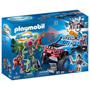 Playmobil 9407 Super 4 - Tout-terrain avec Alex et Rock Brock