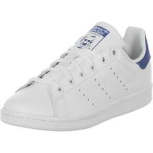 Adidas Stan Smith, Baskets Basses Garçon, Blanc (FTWR White/FTWR White/EQT Blue S16), 36 2/3 EU