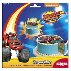Disque en sucre Blaze et les monster machine 16 cm