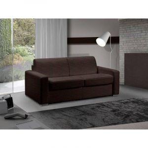 INSIDE Canapé lit 3 places MASTER convertible RAPIDO 140 cm Tweed Cross chocolat MATELAS 18 CM INCLUS