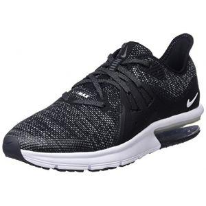 Nike Air Max Sequent 3 (GS) Garçon, Noir (Black/White/Dark Grey 001), 37.5 EU