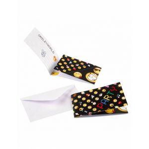 8 invitations et enveloppes Smiley Emoticons