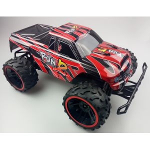 RayLine Voiture RC Monster Truck Run Muscle 2 rouge 1:8 2,4GHz