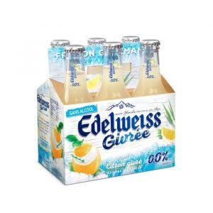 Edelweiss Bière blanche sans alcool aromatisée citron givré