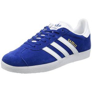 Adidas Gazelle, Baskets Homme, Bleu (Collegiate Royal/White/Gold Metallic 0), 45 1/3 EU