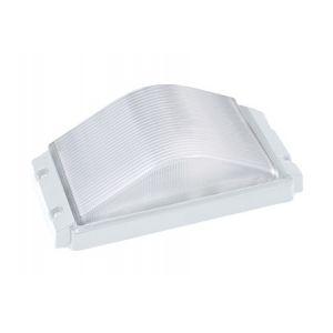 Horoz Electric Hublot rectangulaire blanc 60W (Eq. 12W FLC - 8W LED) IP54 E27 Dim. 265x130x100mm