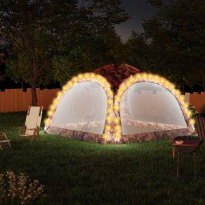 VidaXL Tente de réception avec LED et 4 parois 3,6x3,6x2,3m Camouflage
