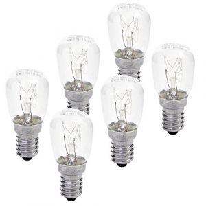 Müller-Licht Lot de 6 Ampoule de four forme de poire à la température jusqu'à 300 °C 25 W, E14, 2400 K, 26 x 60 mm, verre, W, Blanc chaud, 6 x 2.6 x 2.6 cm, 6 unités