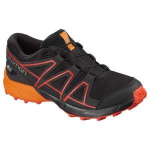 Salomon Speedcross CSWP J Chaussures de Course sur Sentier Mixte Enfant, Noir Black/Tangelo/Cherry Tomato, 32 EU