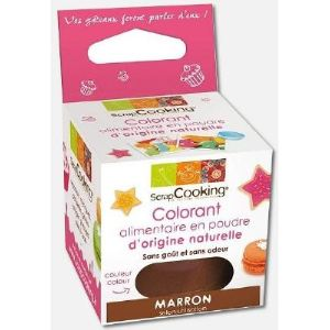 Image de Scrapcooking 4207 - Colorant alimentaire origine naturelle marron