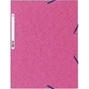 Exacompta Chemise à élastique 3 rabats en carte lustrée 5/10e