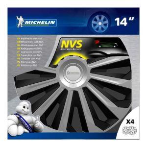 """Michelin Boîte 4 enjoliveurs 14"""" NVS 04 bicolore"""