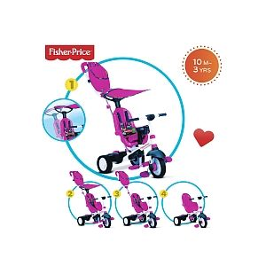 SmarTrike Tricycle Charisma 4 en 1 - Rose