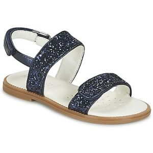 Geox Karly H, Sandales Bout Ouvert Fille, Bleu (Navy), 27 EU