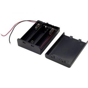 Tru Components SBH-331AS Support de pile 3 LR6 (AA) câble