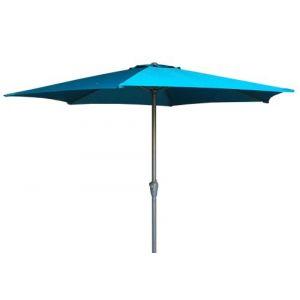 Pegane Parasol rectangulaire en aluminium coloris Vert - Dim : 2 X 3 M -