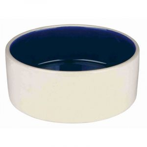Trixie Ecuelle céramique - 1 L/ø 18 cm, crème/bleu