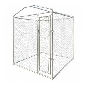 Chenil pour chien en acier galvanisé résistant 4 m2