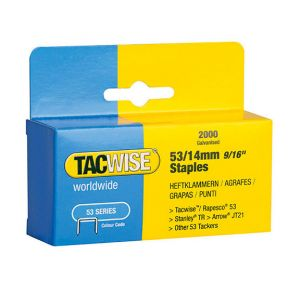 Tacwise 0335 AGRAFES 53 / 8 MM 2000 PIÈCES