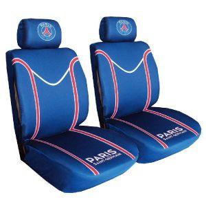 Psg Jeu de 2 housses de sieges Fan - Habillez votre auto aux couleurs de votre club préféré grâce à ce jeu de housses de sièges - Coloris bleu