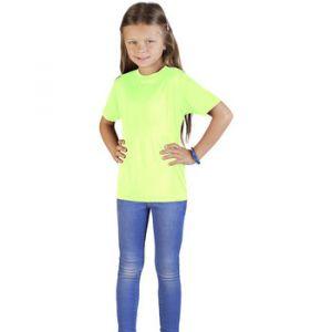 Promodoro UV-Performance T-shirt Enfants, 140, jaune fluo