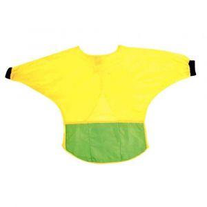 Majuscule Tablier a manches2-3ans jaune