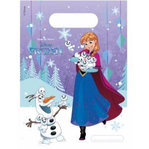 Image de 6 sacs de fête La Reine des Neiges