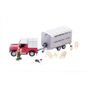 Tomy Coffret élevage de moutons : véhicule, remorque, fermier et 6 animaux