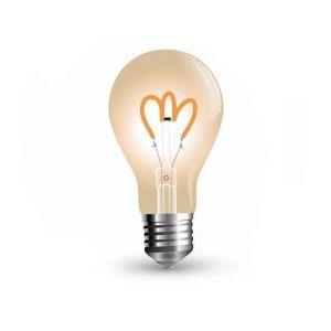 V-TAC Ampoule led vintage 3w filament e27 a65 amber 150lm 300° vt-2063 sku 7219 2200k