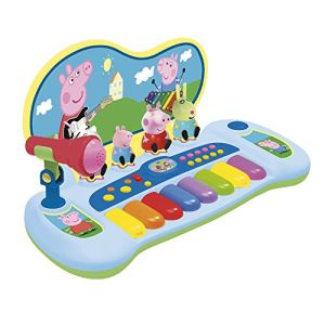 Reig Musicales 2328 - Clavier avec personnages et microphone Peppa Pig