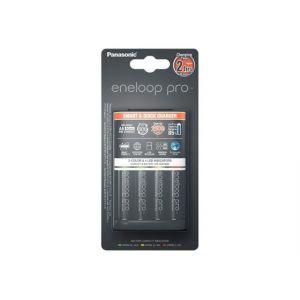 Panasonic BQ-CC55E - Chargeur rapide Eneloop Pro 3H avec lot de 4 Accus