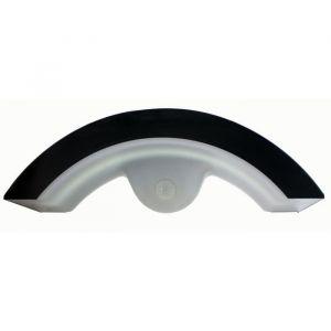 LUNA Applique extérieure solaire LED en métal noir et PVC