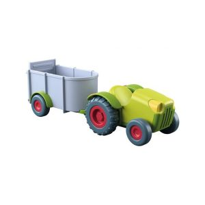 Haba Little Friends – Tracteur avec remorque Multicolore