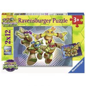 Ravensburger Puzzle Les Tortues Ninja en action (2 x 12 pièces)