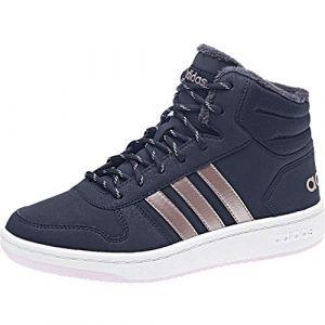 Adidas Hoops Mid 2.0, Chaussures de Basketball Mixte Enfant, Bleu Legink/Vagrme/Trablu, 28 EU
