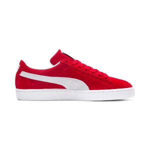 Puma Chaussures casual unisexes Suede Classic+ Rouge / Blanc - Taille 38