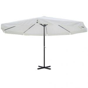 VidaXL 40301 - Parasol classique rond avec pied alu 500 cm