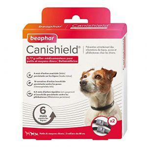 Beaphar Collier chien contre les puces, tiques et moustiques petits et moyens chiens | 2 colliers