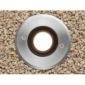 Faro Tecno - Spot électrique extérieur à encastrer acier inoxydable / verre 12cm