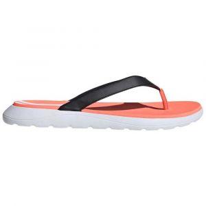 Adidas Comfort Flip Flop, Chaussure de Piste d'athlétisme Femme, Noir Noir/Blanc FTWR/Corail Signal, 42 EU