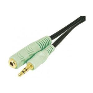 Dexlan 108869 - Cordon sortie audio jack 3.5mm M/F PC99 1,8m