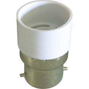 Franelec Adaptateur pour culot d'ampoule ADAPTB22/E14 B22 vers E14
