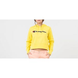 Champion Sweat-shirt Sweat Crop Hooded jaune - Taille EU S,EU M,EU L,EU XL