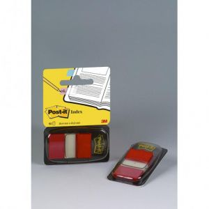 Post-It I680-1 - Carte 50 repères adhésifs Index, 25,4x43,2mm, rouge