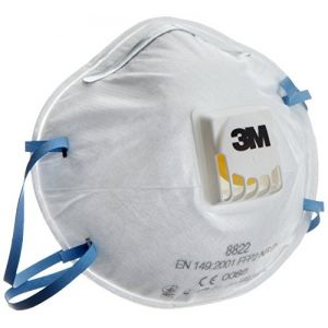 3M Masque 8822 anti-poussière FFP2 avec soupape x10