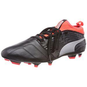 Puma One 18.3 FG, Chaussures de Football Homme, Noir Black Silver-Red Blast, 46 EU