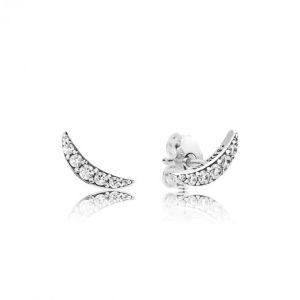 Pandora Boucles d'oreilles 297569CZ - Boucles d'Oreilles Lumière Lunaire Femme
