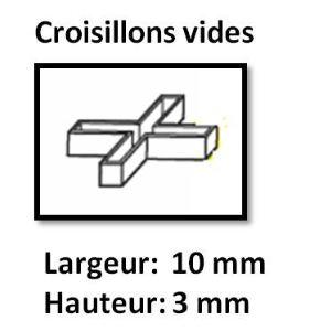 Image de Far Tools 113873 - 100 croisillons vides (largeur 10 mm / hauteur 3 mm)