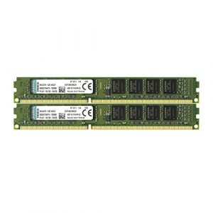 Kingston KVR13N9S8K2/8 RAM 8Go 1333MHz DDR3 Non-ECC CL9 DIMM Kit (2x4Go) 240-pin, 1.5V